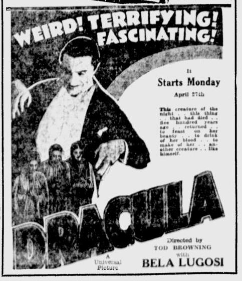 Dracula, The Berkeley Gazette, April 24, 1931 1