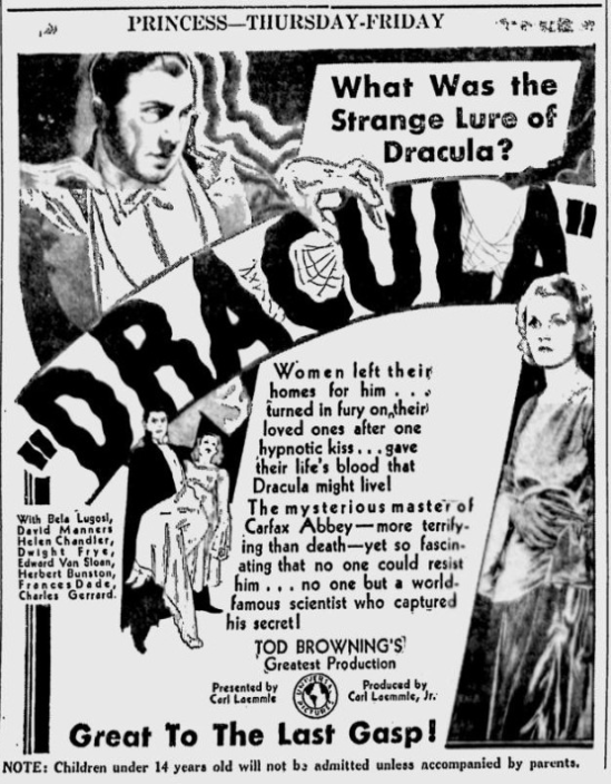 Dracula The florence Times-News, September 23, 1931 1