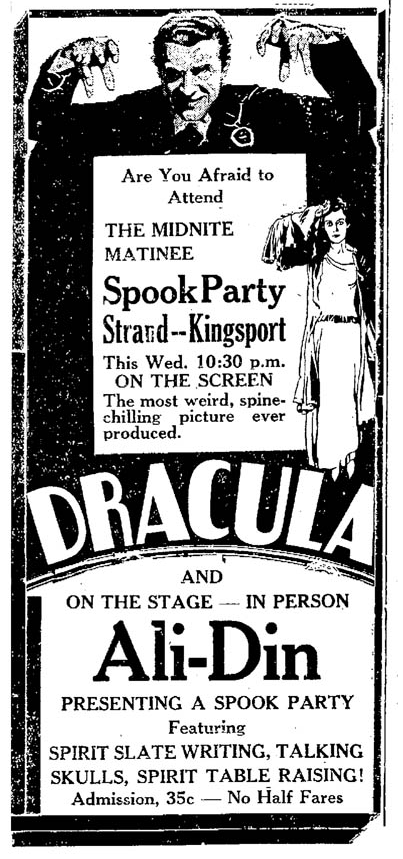 Dracula, The Kingsport Times, June 12, 1931 3