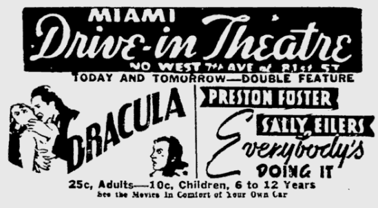 Dracula. The Miami News, May 9, 1939