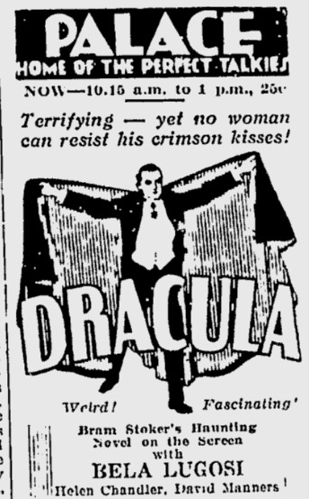 Dracula, The Montreal Gazette, March 16, 1931