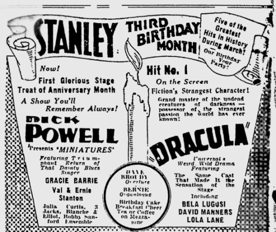 Dracula. The Pitsburgh Press, March 1, 1931