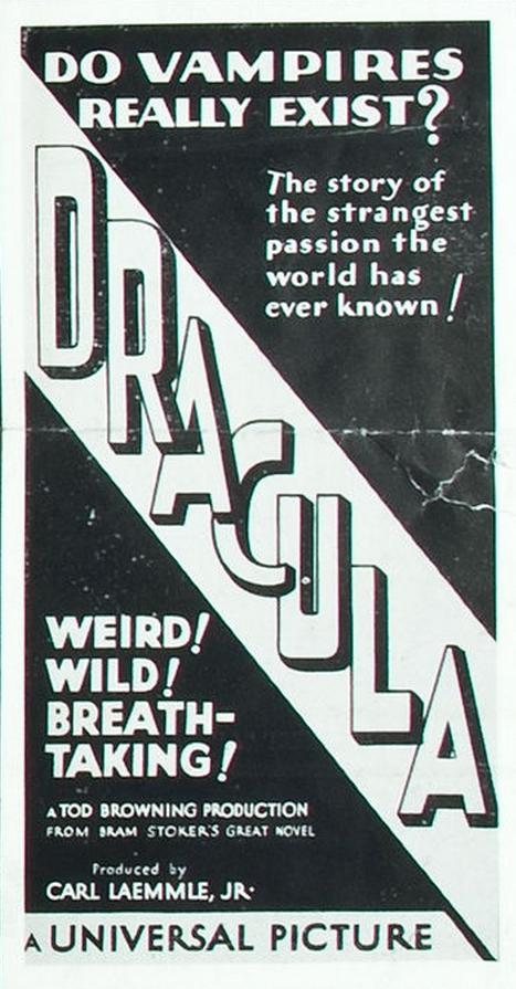 Dracula Three Sheet Block