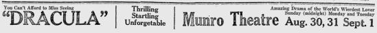 Dracula, Turtle Mountain Star, August 27, 1931 2