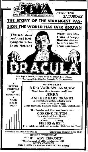 Dracula, unknown newspaer 1