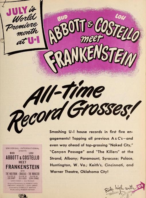 アボットとコステロミートフランケンシュタイン映画の日の1948年7月22日2