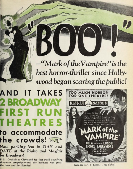 Mark of May 1935, the date of the vampire movie people
