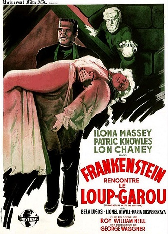 Frankenstein Meets The Wolf Man French Poster