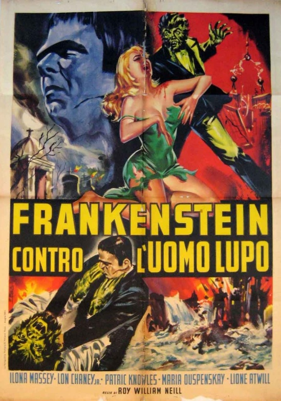 Frankenstein Meets The Wolf Man Italian 1963 Re-Release