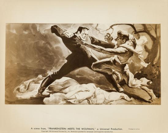 Frankenstein Meets The Wolf Man Key Art Photo