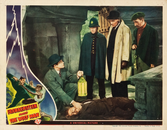 Frankenstein Meets The Wolf Man Lobby Card 2