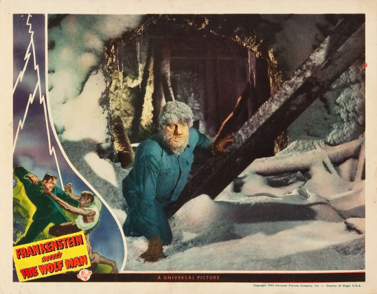 Frankenstein Meets The Wolf Man Lobby Card 3