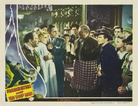 Frankenstein Meets The Wolf Man Lobby Card 4