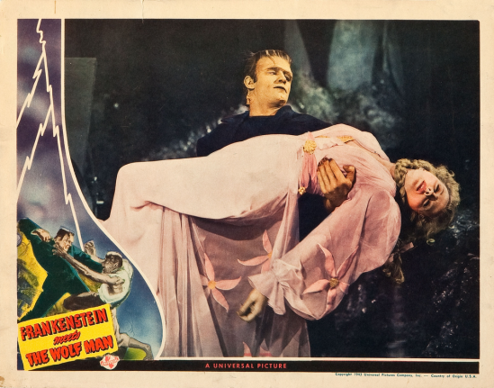 Frankenstein Meets The Wolf Man Lobby Card 6