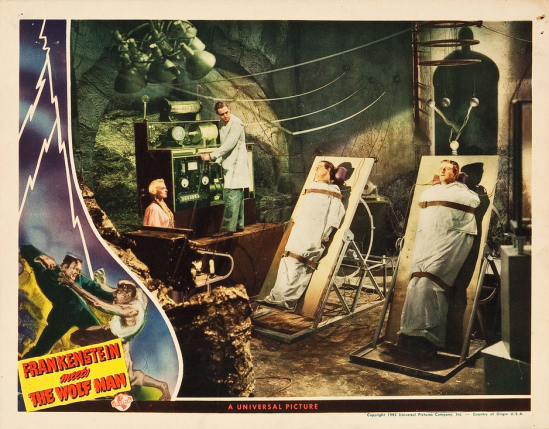 Frankenstein Meets The Wolf Man Lobby Card 8