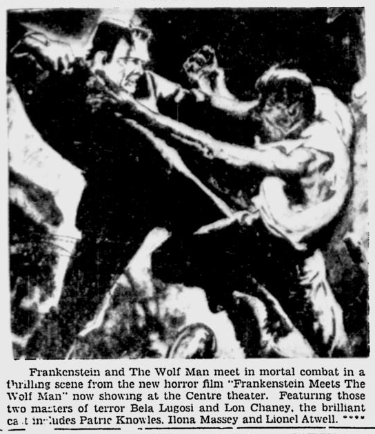 Frankenstein Meets The Wolf Man, Ottawa Citizen, June 5, 1943