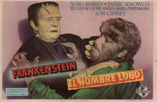 Frankenstein Meets The Wolf Man Spanish Herald