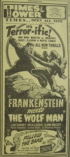 Frankenstein Meets The Wolf Man, The Sacramento Bee, June 5, 1943