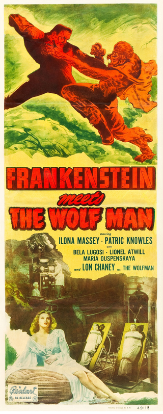 Frankenstein Meets The Wolfman 1949 Re-Release Insert