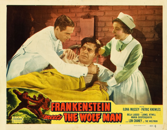 Frankenstein Meets The Wolfman 1949 Re-Release Lobby Card 2