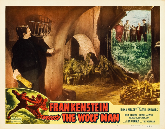Frankenstein Meets The Wolfman 1949 Re-Release Lobby Card 3