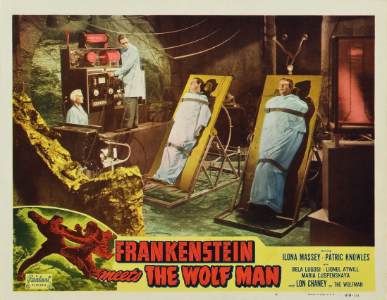 Frankenstein Meets The Wolfman 1949 Re-Release Lobby Card 4