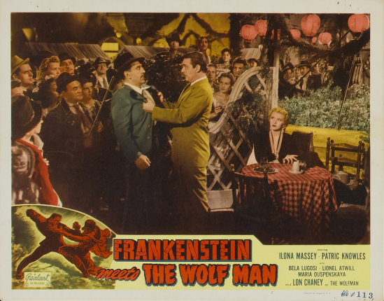 Frankenstein Meets The Wolfman 1949 Re-Release Lobby Card 5
