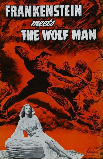 Frankenstein Meets The Wolfman 1949 Re-Release Pressbook