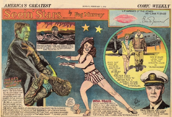 Frankenstein Meets The Wolfman America's Greatest Comic Weekly, February 7, 1943