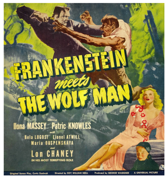 Frankenstein Meets The Wolfman Six Sheet