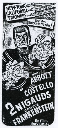 Abbott & Costello Meet Frankenstein French Newspaper Ad1