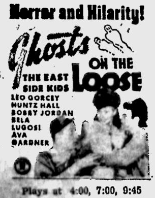 Ghosts On The Loose, Lodi News-Sentinel, October 14, 1943