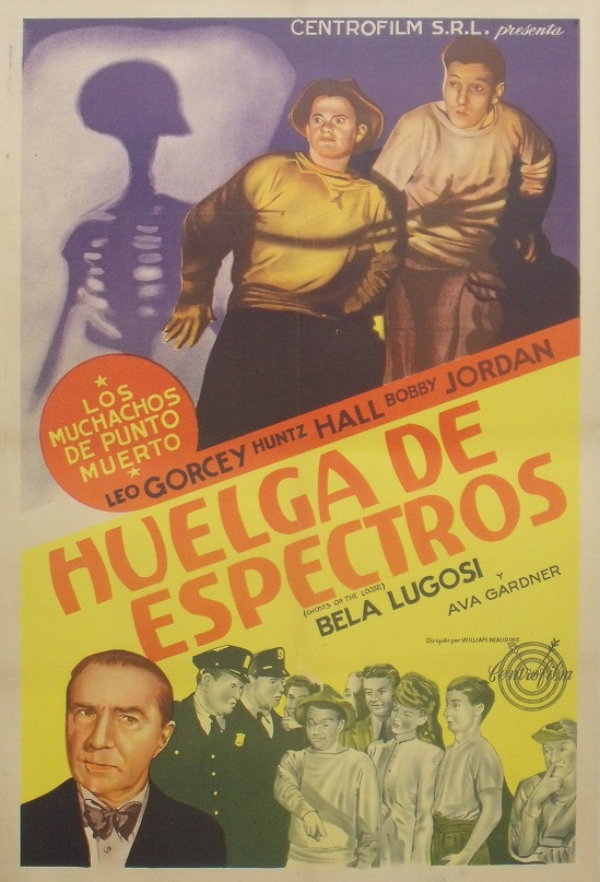 Ghosts On The Loose Spanish Poster