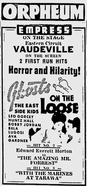 Ghosts On The Loose, Spokane Daily Chronicle, May 24, 1944