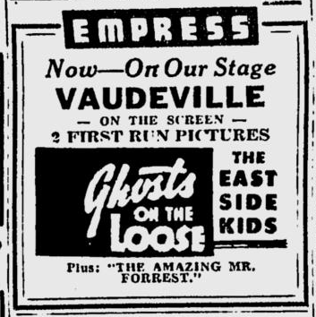 Ghosts On The Loose, Spokane Daily Chronicle, May 25, 1944