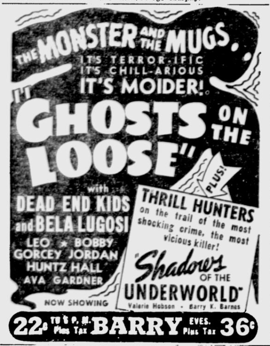 Ghosts On The Loose, The Pittsburgh Press, August 11, 1943 b
