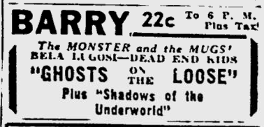 Ghosts On The Loose, The Pittsburgh Press, August 12, 1943