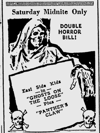 Ghosts On The Loose, The Southeast Missourian, October 7, 1949