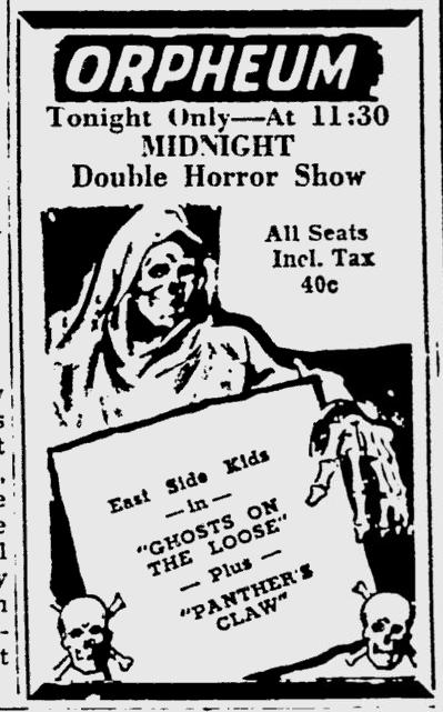 Ghosts On The Loose, The Southeast Missourian, October 8, 1949