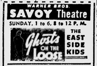 Ghosts On The Loose, The Sunday Morning Star, October 31, 1943b