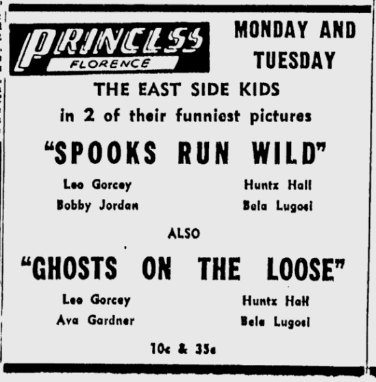 Ghosts On The Loose, Times Daily, July 24, 1955