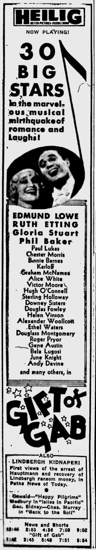 Gift of Gab, Eugene Register-Guard, October 1, 1934