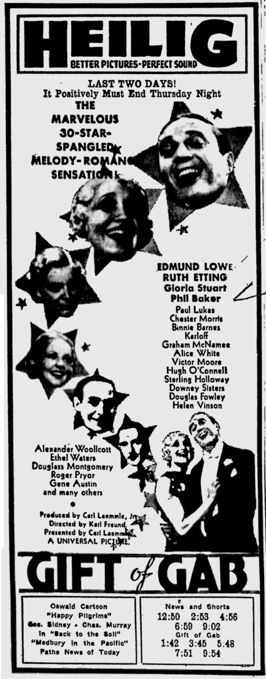 Gift of Gab, Eugene Register-Guard, October 3, 1934