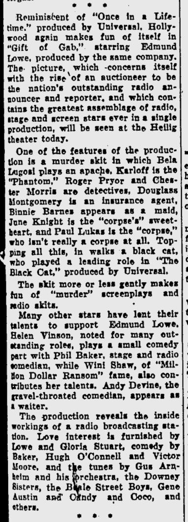 Gift of Gab, Eugene Register-Guard, September 30, 1934 b