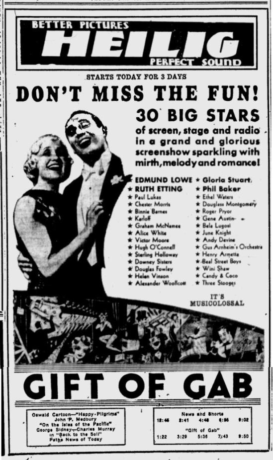 Gift of Gab, Eugene Register-Guard, September 30, 1934