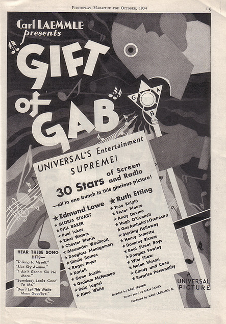 Gift of Gab Photoplay Magazine, October 1934