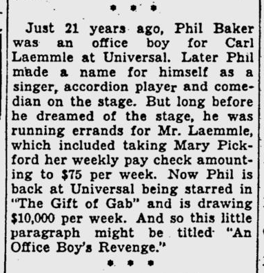 Gift of Gab, Pitsburgh Post-Gazette, July 18, 1934