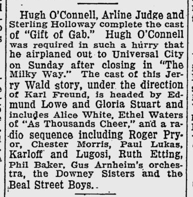 Gift of Gab, The Evening Independent, July 12, 1934