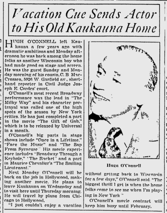 Gift of Gab, The Milwaukee Journal, August 6, 1934