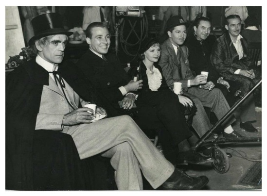 Gift of Gab Boris Karloff, Douglas Montgomery, June Knight, Roger Pryor, Bela Lugosi and Paul Lukas relax on the set